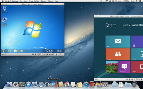 Parallels Desktop 7 and OS X 10.8 Mountain Lion on a MacBook Air